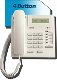 LG Nortel Aria LDP-7004D 4 button phone