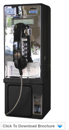 Vandal Resistant coin pay phone